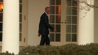 Obama leaves Oval Office for final time as President