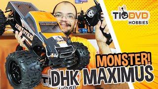 MONSTER TRUCK QUE CORRE À 80KM/H DHK MAXIMUS 8382 CARRO RC ELÉTRICO CARRINHO DE CONTROLE REMOTO