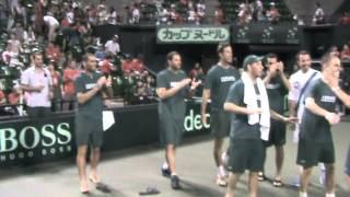 Davis Cup: Japan - Israel - Celebrations