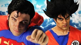 Download Goku vs Superman.  Epic Rap Battles of History Season 3. 3Gp Mp4