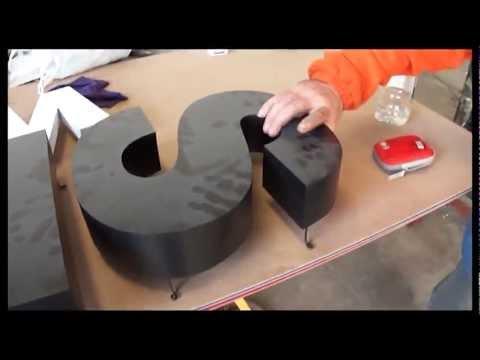Como se hacen letras corporeas Polyfan PVC espumado leds letterSystems