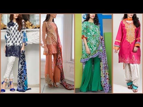 Latest Top Pakistani shalwar kameez designs 2017   Latest salwar suits / Kurti for ladies