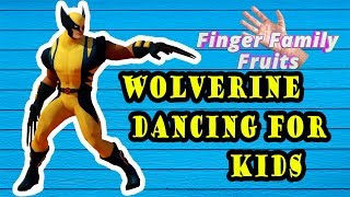 Finger Family Superheroes Dancing Wolverine 3D Funny Animation for Kids | Finger Family Channel