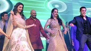 Salman & Parineeti DANCES At Sania Mirza's Sister Sangeet Ceremony