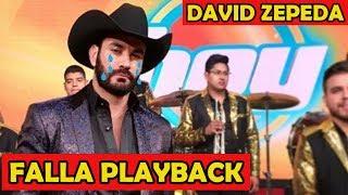 David Zepeda Falla Playback en Vivo!!!