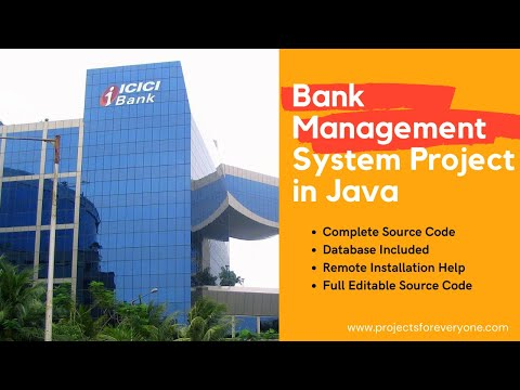 Banking Software Project in Java with MySql, JDBC, Swing