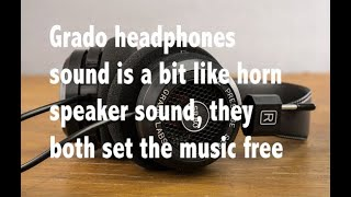 I love Grado headphones, maybe because they sound like horn speakers