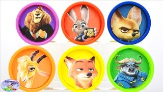 Zootopia Play Doh Nick Wilde Judy Hopps Zootropolis MLP Disney Surprise Egg and Toy Collector SETC