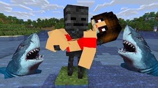 Monster School : FUNNY SWIMMING CHALLENGE goes BAD - Minecraft Animation