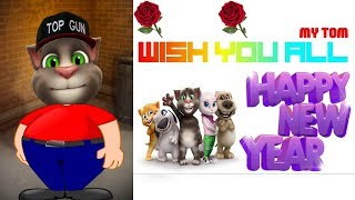 Talking Tom Hindi || Happy New Year || 2018  Funny Comedy Videos || best wishes for friends
