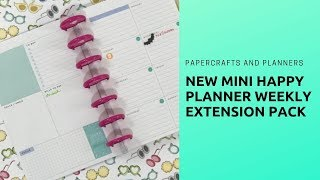 New Mini Happy Planner Weekly Extension Pack