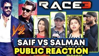 RACE 2 Saif Ali Khan Vs RACE 3 Salman Khan | PUBLIC Reaction On BEST LOOK