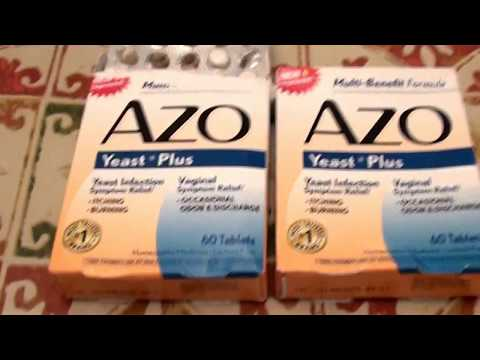 Azo Yeast Plus for Candida and Bacterial overgrowth yeast infection of the stomach