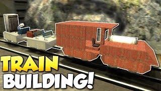 BUILDING A TRAIN!? - Garry's Mod Gameplay - Gmod Sandbox Train Building Funny Moments!
