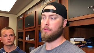 Pitcher Jimmy Nelson talks about his performance and being back