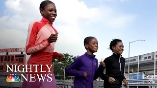 Inspiring America: Young Homeless Sisters Running For Gold | NBC Nightly News