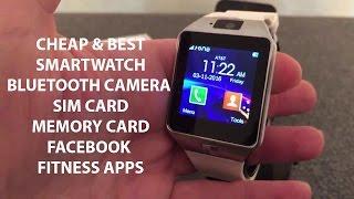 Ikon IK-W80 Smart watch Cheap & Best with Sim Memory card Bluetooth Music facebook twitter review 4K