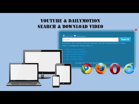 Bookmarklets | Youtube Dailymotion Search and Download | Download video youtube and dailymotion
