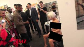 """TMZ Art Basel Lena Marquise """"Hey Do You Like Art"""" with Usher charges iphone with vagina"""