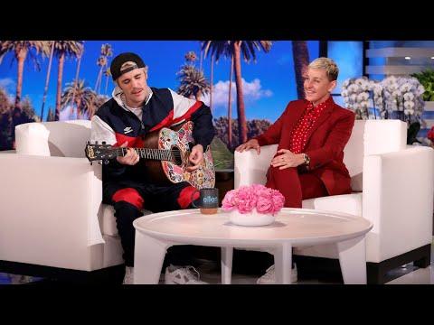 Justin Bieber Serenades Ellen with Yummy