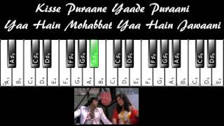 Do Lafzon Ki Hai Dil Ki Kahani - Complete Piano Tutorial (with Prelude/Interludes)