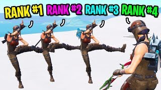 We created the biggest TRYHARD squad ever in Fortnite... (4 RENEGADE RAIDERS!)