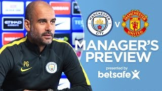 GABRIEL JESUS & AGUERO ARE READY | City v United | Guardiola Press Conference