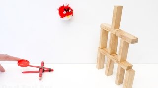 How To Make A Craft Stick Catapult DIY (simple S.T.E.M. Ideas)