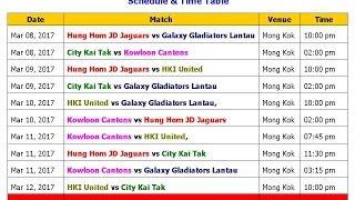 Hong Kong T20 Cricket Blitz 2017 Schedule, Teams & All Players List