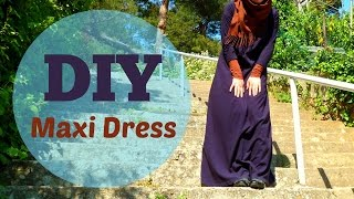 DIY Jersey Maxi Dress | Kendin Yap: Uzun Jarse Elbise