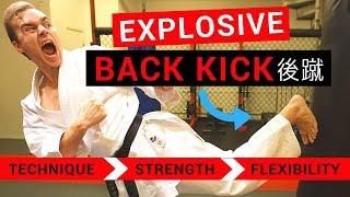 EXPLOSIVE KARATE BACK KICK (USHIRO GERI 後蹴) TUTORIAL — Jesse Enkamp