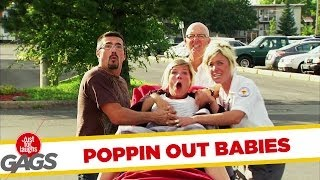 Pregnant Woman Pops Out Baby!