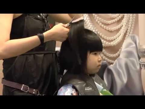 The cutest Chinese girl enjoying a stylish haircut at NEX Mall, Singapore