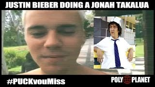 Justin Bieber tells media Puck u Miss  - Jonah Takalua style from Summer Heights High