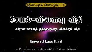 செயல்-விளைவு விதி - அண்டமும் பிண்டமும் பகுதி - 11 - Universal Laws Tamil