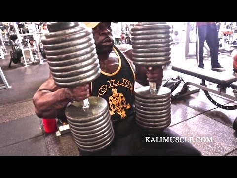 Kali Muscle Chest Workout w 200lb Dumbbell Press