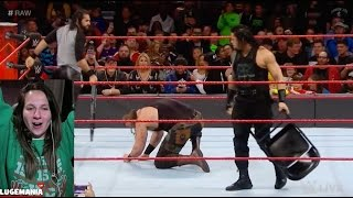 WWE Raw 1/9/17 Braun Strowman after Roman Reigns