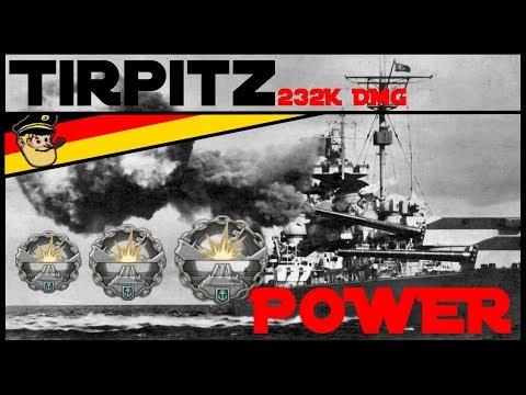 Tirpitz 🚠 - Operation Sports Palace - 233K DMG - World of Warships