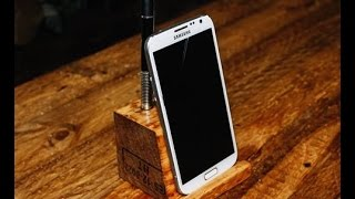 Phone Charging Stand - Pallet Cube - اصنع حامل الهاتف