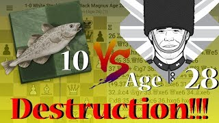 Stockfish 10 vs Play Magnus Age 28 FULL HD