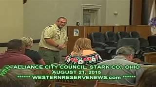 BOY SCOUT TROUP  BACKS CITY PARKS at ALLIANCE CITY COUNCIL MEETING