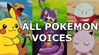 ALL 151 Original Pokemon REAL Voices - Anime Sounds, Cries & Impressions