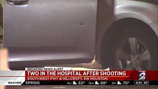 2 hospitalized after shooting in southwest Houston