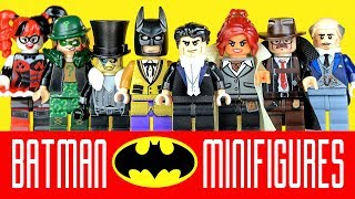 Batman Minifigures w/ Bruce Wayne Harley Quinn Riddler & The Penguin Unofficial LEGO Part 4