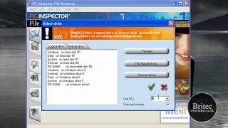 Data Recovery: Recover Deleted Files and Lost Data for Free with PC Inspector by Britec