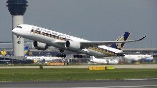 Manchester Airport Plane Spotting, RW23R Rotations   07-05-18