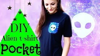 DIY Pocket Alien Tee shirt - Tumblr Inspired How to Sew Tutorial