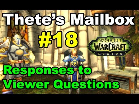 Thete's Mailbox #18 Viewer Comments and Responses