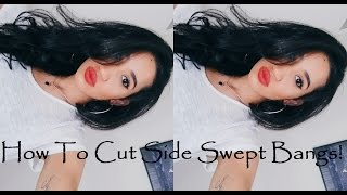 How to cut your own hair - Side Swept Bangs | CillasMakeup88