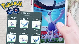¡TEAM LEGENDARIO vs INCURSIÓN nivel 5 y GIMNASIO! Articuno y Lugia atacando! Pokémon GO [Keibron]